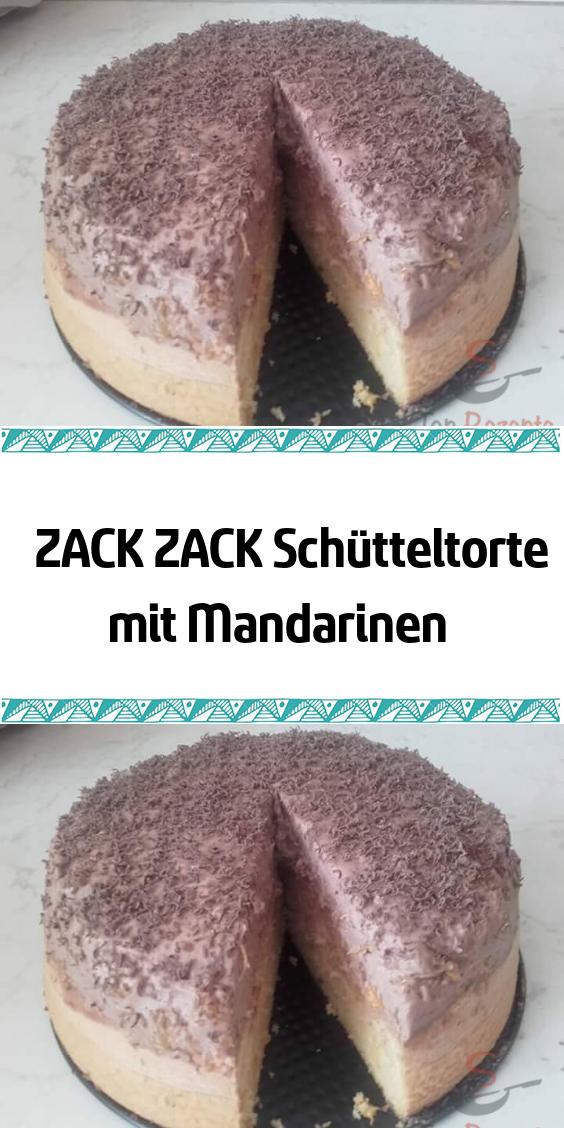 ZACK ZACK Schütteltorte mit Mandarinen #leckerekuchen