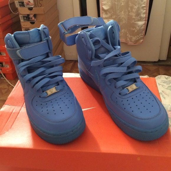 the best attitude d07cb 23a40 Nike Uptowns (Air Force Ones) Beauty Blue Ups!! Rare Limited Edition Air  Force Ones (Only Worn Once For Event) Nike Shoes Sneakers