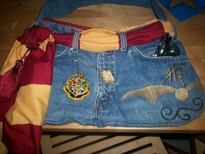 Harry Potter pocket stretch denim tote bag.