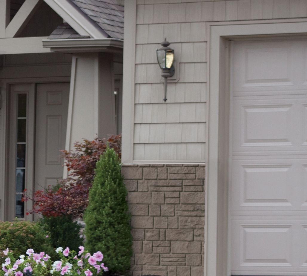 Combination Of Stone And Shake Siding On Home Siding