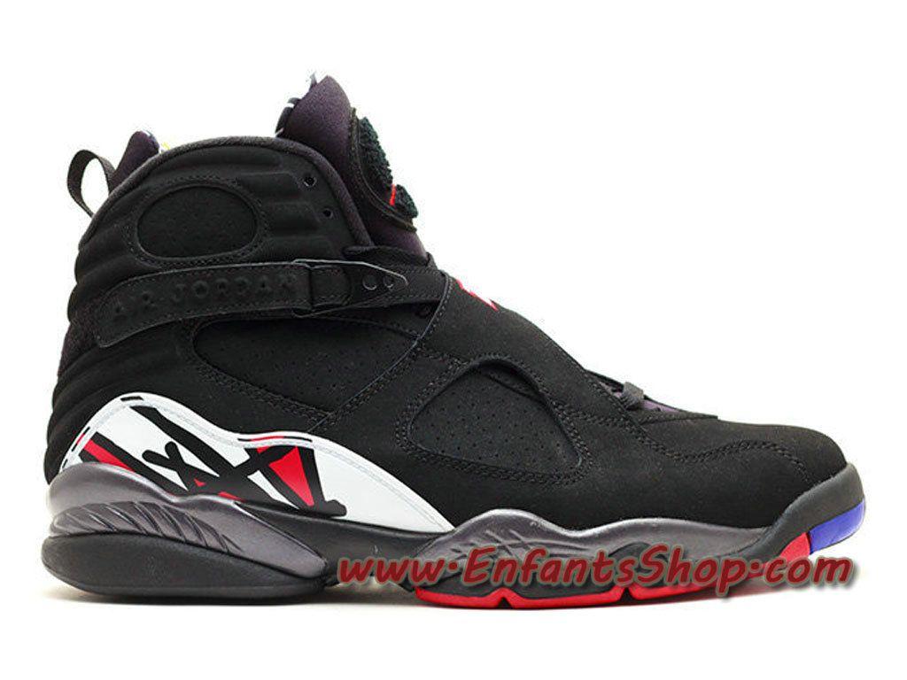 Air Jordan 8 (VIII) Retro Playoff Chaussures Jordan Basket Pas Cher Pour  Homme Noir