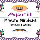 There are 20 daily Minute Minders to use as morning work, bell work, or afternoon wrap up. These Minute Minders were created to be used as a whiteb...