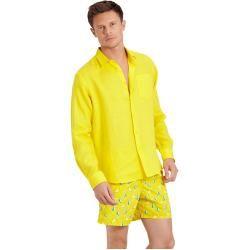 Herren Ready to Wear - Solid Hemd aus Leinen für Herren - Hemd - Caroubis - Gelb - Xxs - Vilebrequin