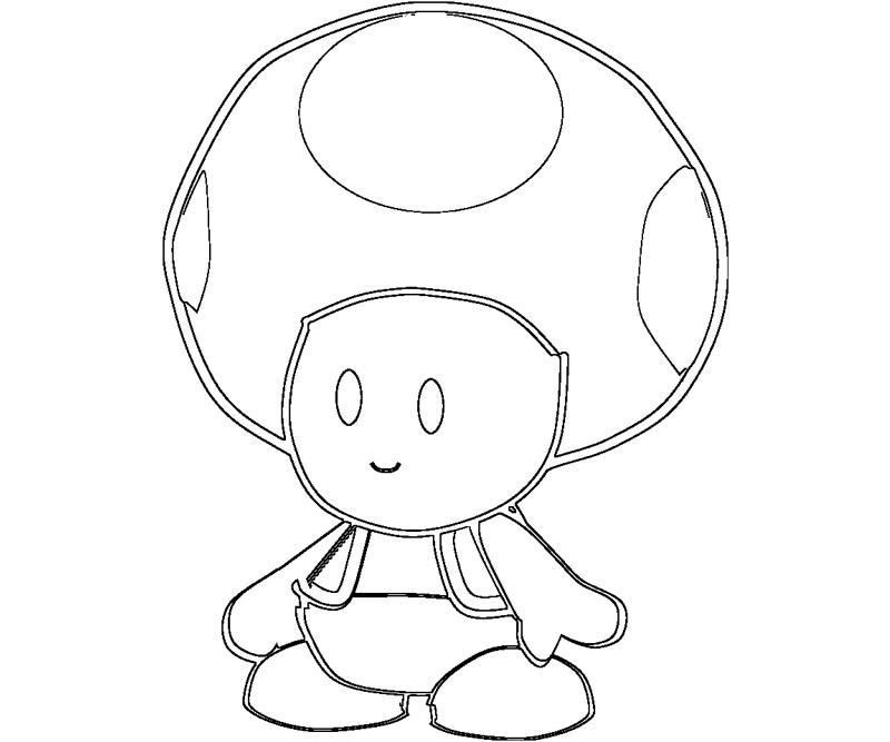 Toad Mario Characters Coloring Pages Toad 8 Coloring Comicsy