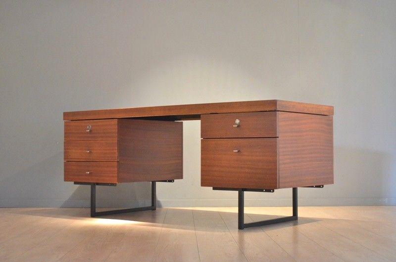 bureau ministre de pierre guariche pour meurop meurop vintage furniture pinterest bureau. Black Bedroom Furniture Sets. Home Design Ideas