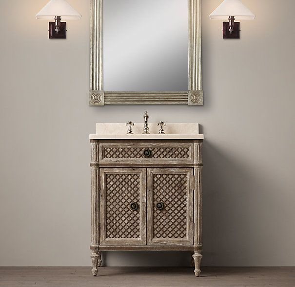 Powder Room Vanity louis xvi treillage powder room vanity sink | p o w d e r r o o m
