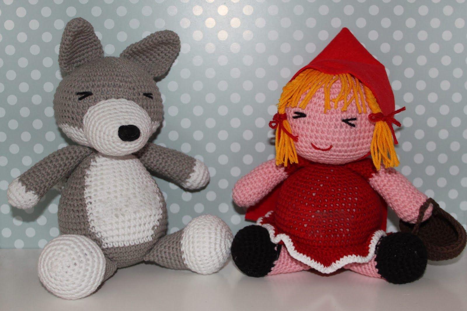 Amigurumi Crochet Personajes : Caperucita y el lobo personajes cuento amigurumi cute and