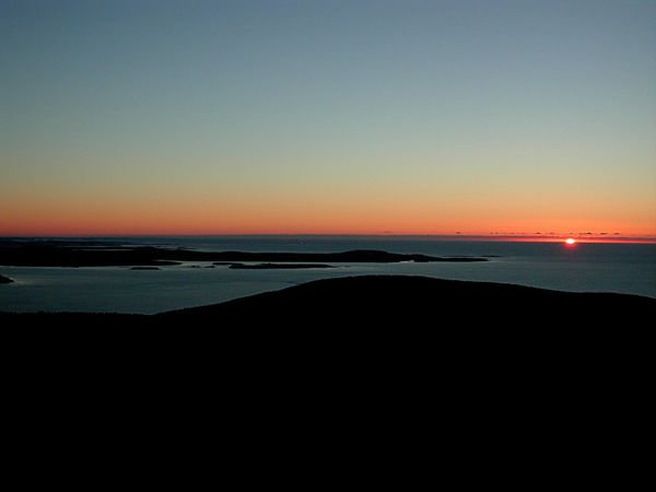 The sun rises first in the U.S. at Cadillac Mountain in Maine (at least for part of the year).