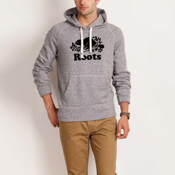 8fa9dc81b Roots Salt & Pepper Heritage Kanga Hoody   Men's Tops Sweatshirts and  Hoodies   Roots