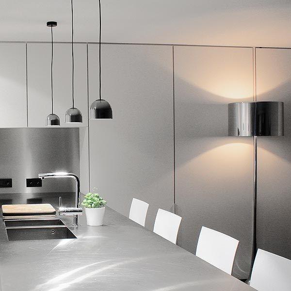 lampadaire spun light f en aluminium poli de wrong sebastian pour