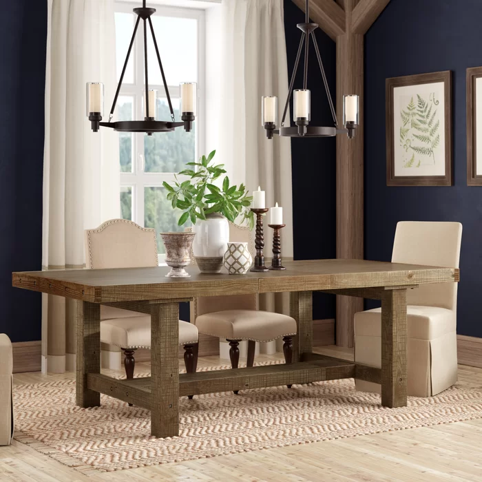 Etolin Extendable Dining Table With Images Extendable Dining Table Dining Table Dining Furniture