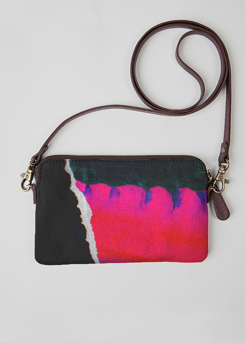 Leather Statement Clutch - Abstract by VIDA VIDA 4Noi7