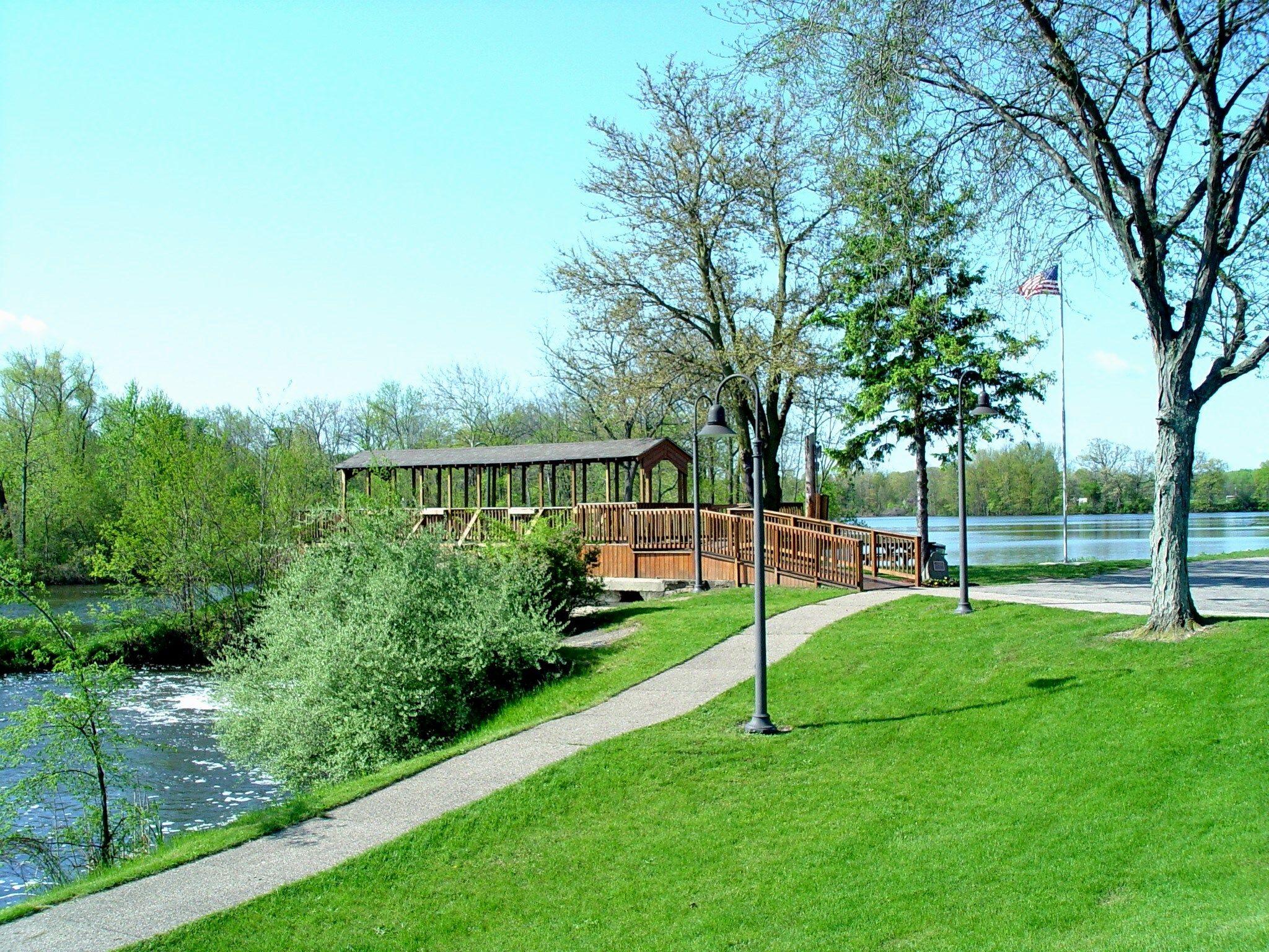 Covered Footbridge Across The Millrace Located In The Lions Club Park In Paw Paw Van Buren County Footbridge Michigan Hometown [ 1536 x 2048 Pixel ]