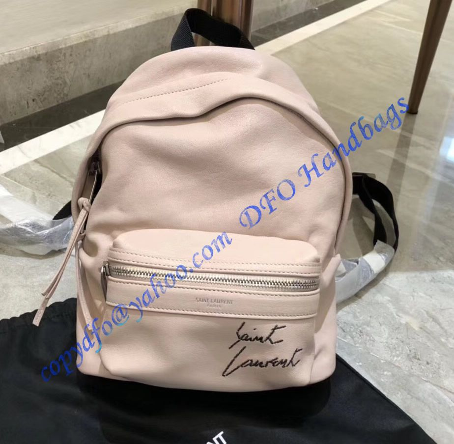 Upgrade your wardrobe a YSL Mini Toy City Embroidered Backpack in Pink  Leather. Sales at wholesale rate- USD 329. Free Worldwide Shipping by  courier. 748078e590b37