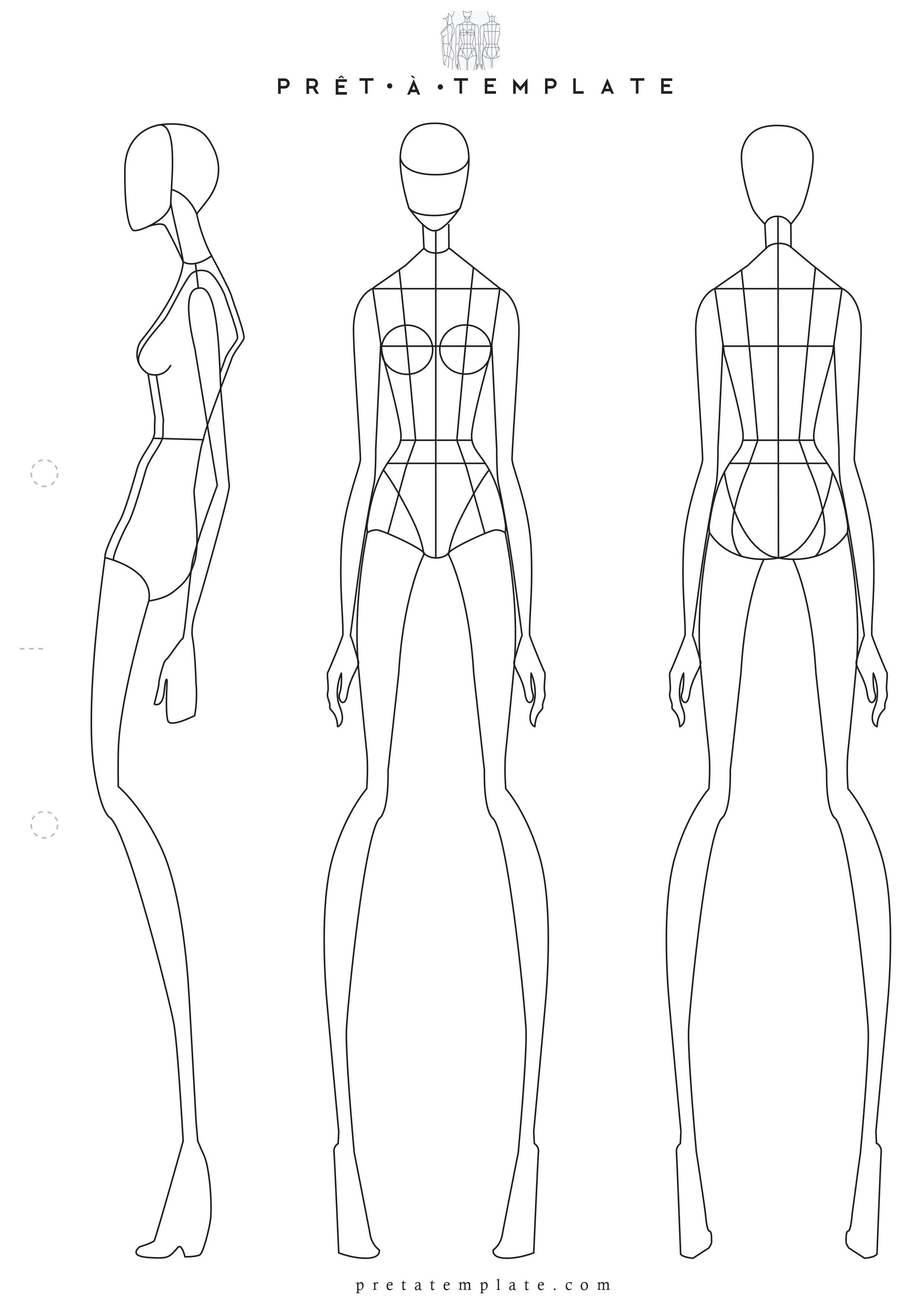 Fashion Templates Female Body Outline