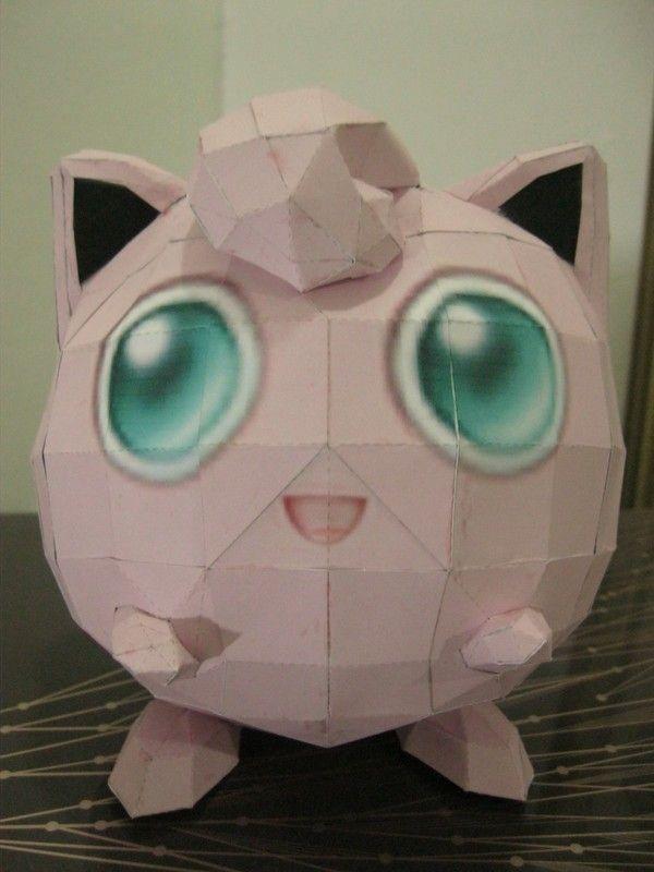 Pokemon Jigglypuff Paper Craft Crafts Pinterest Pokemon