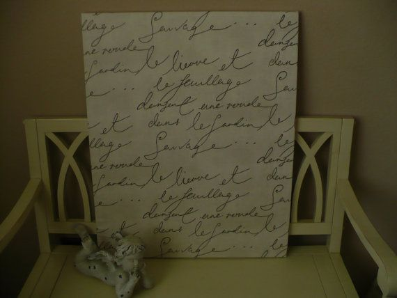 Paris Apartment / French Script Canvas Wall Art / by ParisByNight