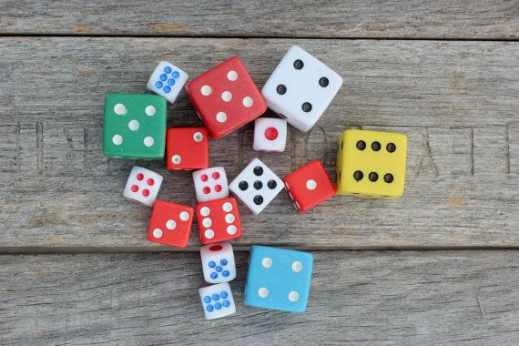 Mixed Dice  Vintage / New  Supplies Mixed Media by OldSoulSalvage