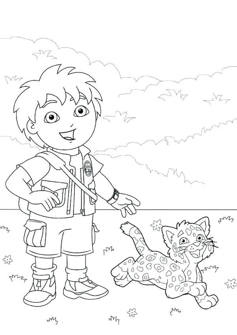 Printable Diego Coloring Page For Kids