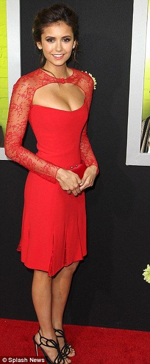 My second favorite color: red and it's on my favorite actress. Love you Nina!