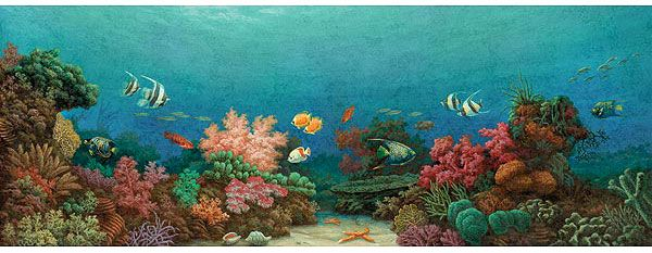 Sea horses painting murals | Under The Sea Painting Mural - Murals ...