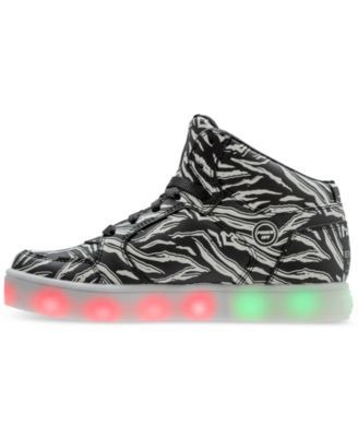 aab3a6781cc7c Skechers Boys' S Lights: Skechers Swipe Lights Light-Up High Top Casual  Sneakers from Finish Line - BLACK/WHITE/GLOW N 4.5