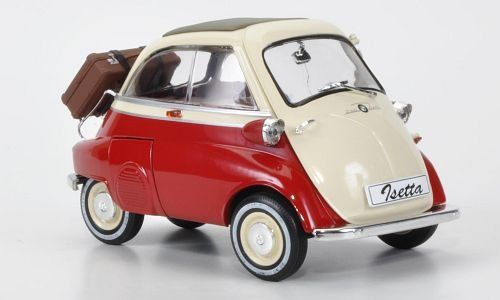 BMW Isetta 250, red/light beige, special model MCW, limited Edition 1000 pieces, Model Car, Ready-made, Revell / MCW 1:18