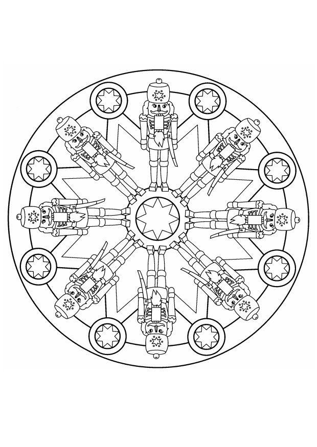 Mandalas soldat de bois noel | Mandalas de Noël | Pinterest | Cards ...