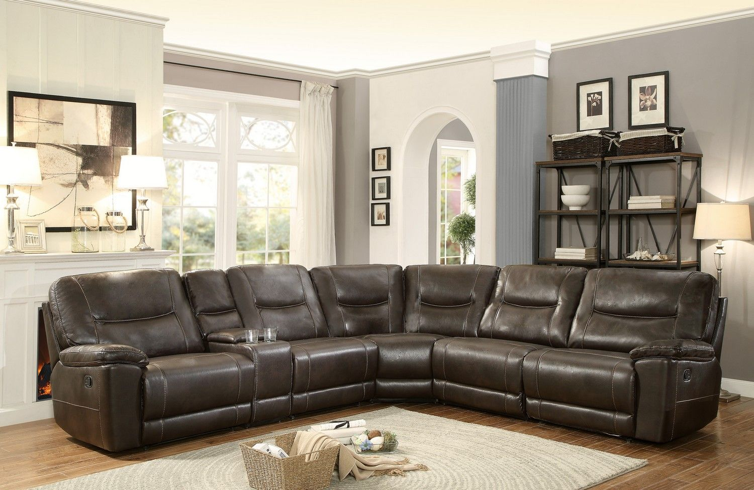 Best Homelegance Columbus Reclining Sectional Sofa Set D 640 x 480