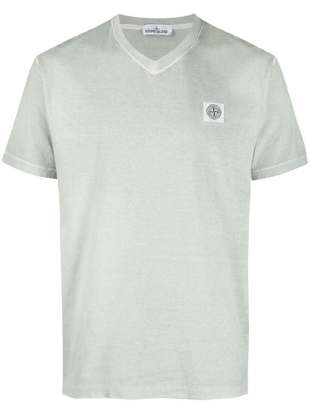 Stone Island Stone Island Logo Patch T Shirt Green Stoneisland Cloth Stone Island T Shirt Mens Tops