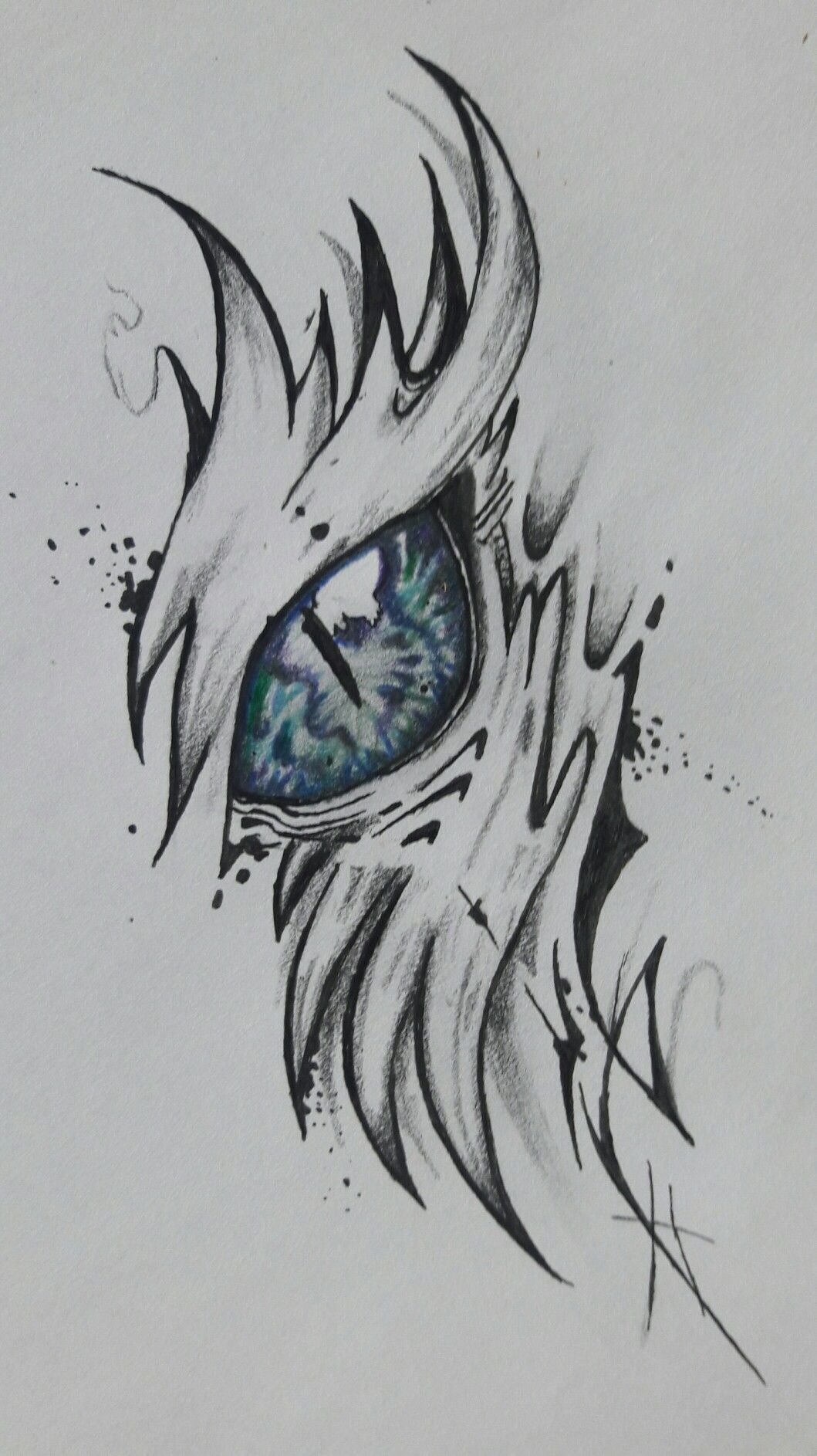 Qued Lindo 3 Tattoo Idea In 2019 Drawings Dragon Eye Drawing Art