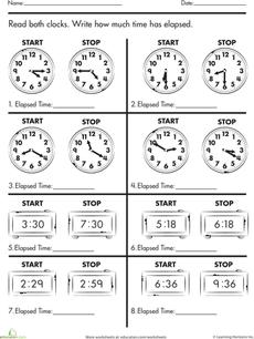 calculate elapsed time school ideas third grade math teaching math second grade math. Black Bedroom Furniture Sets. Home Design Ideas