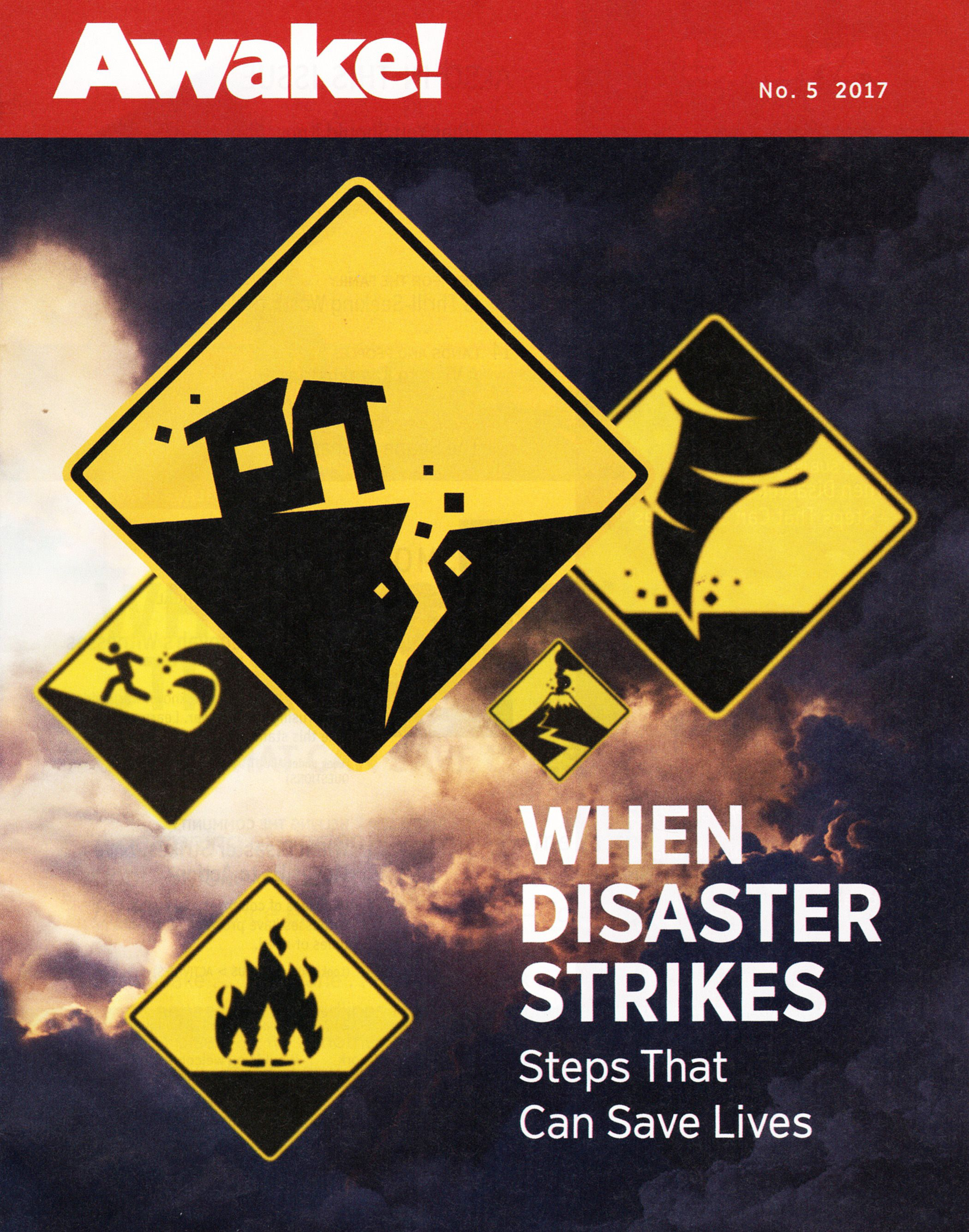 Various Disasters Portrayed In Road Warning Signs Disasters