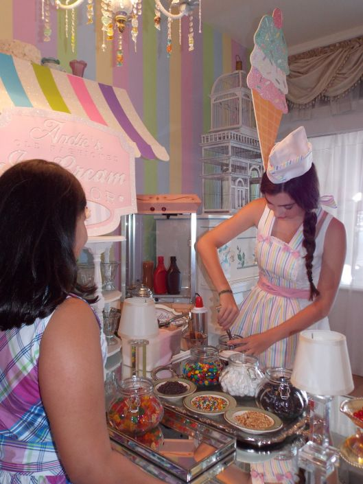 Andie's old fashioned ice cream parlor @ Veronica's Dollhouse in South Miami