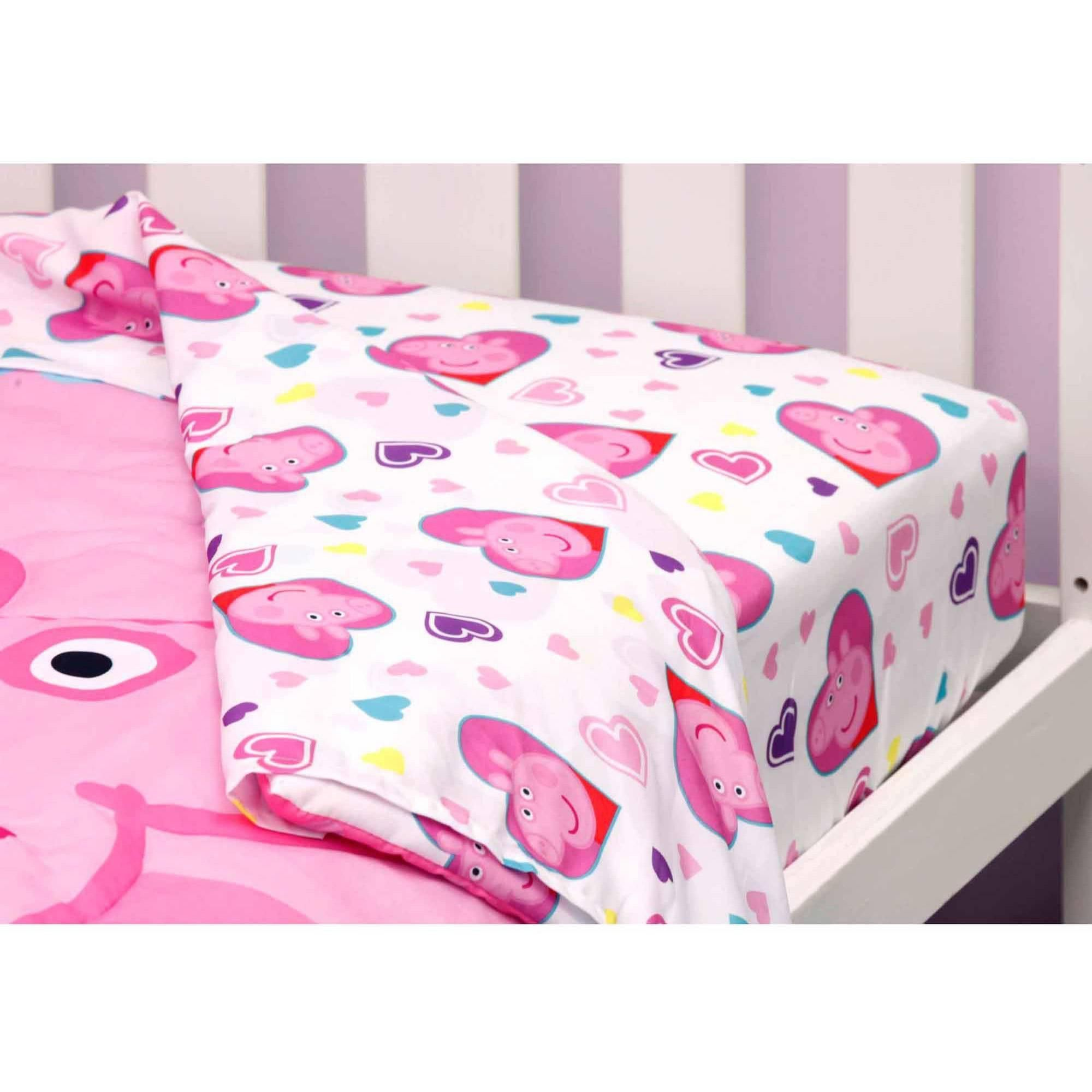 Peppa Pig Toddler Bedding Reversible Set Toddler Bed Set