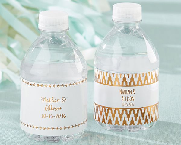 Wedding Water Bottle Labels.Personalized Water Bottle Labels Copper Foil In 2019