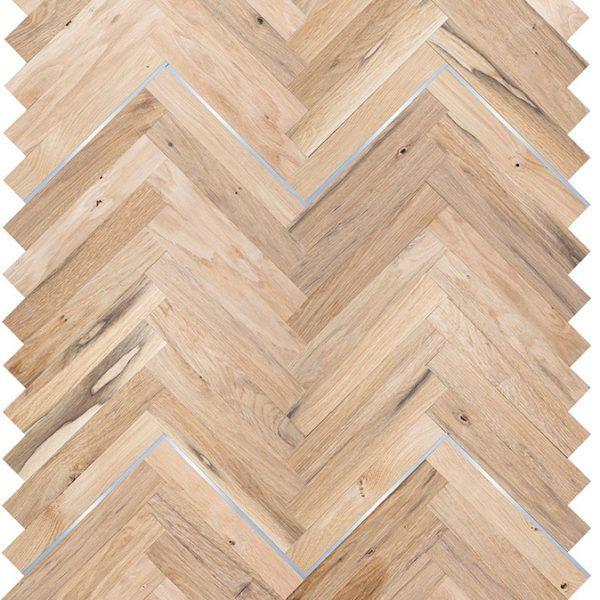 Manhattan Herringbone Wood Parquet Flooring With Metal Wood