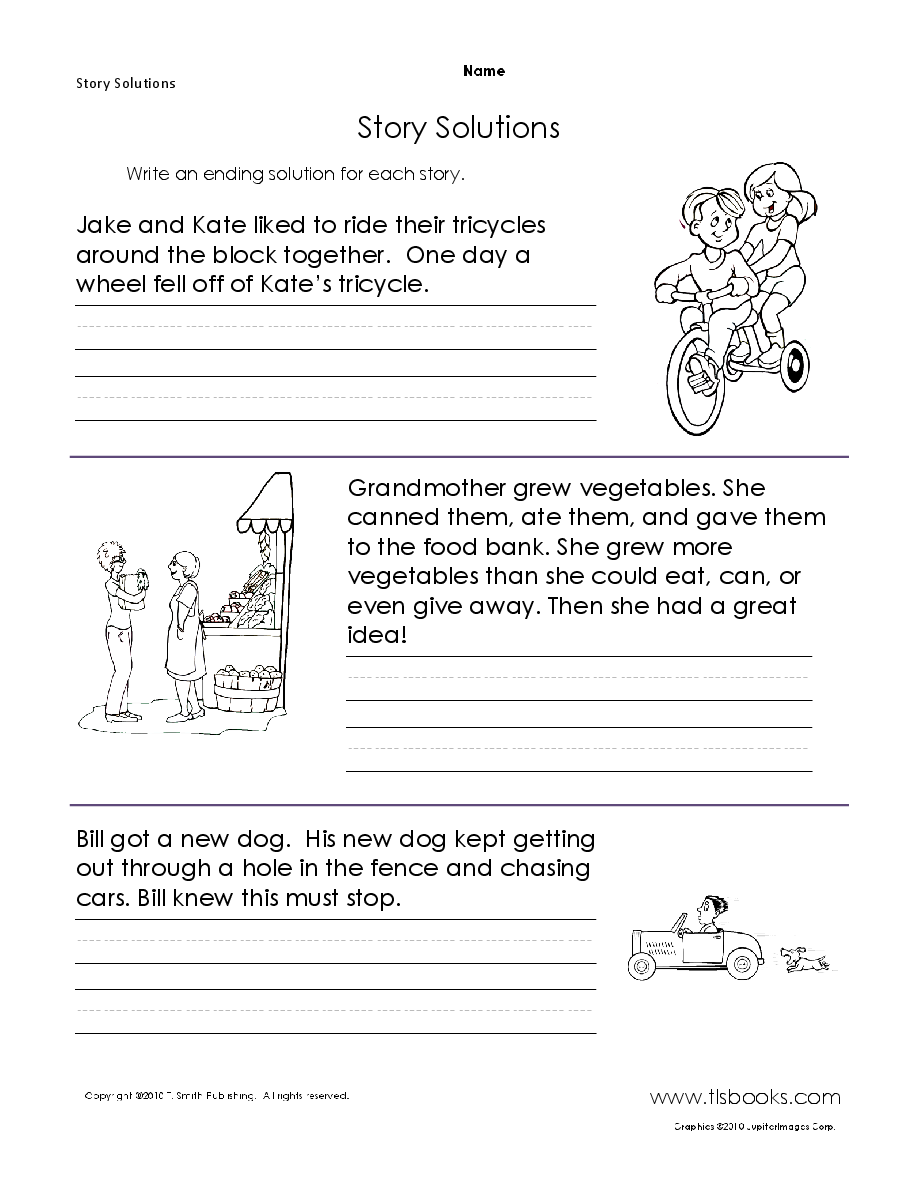 Story Solutions Creative Writing Worksheets Writing Worksheets Writing Prompts For Kids [ 1188 x 918 Pixel ]