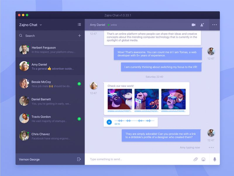 Free Desktop Messaging App Concept Messaging App App