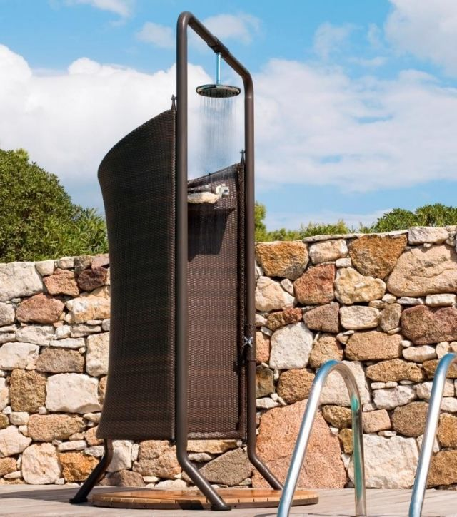 solar gartendusche mit sichtschutz – msglocal, Gartengestaltung