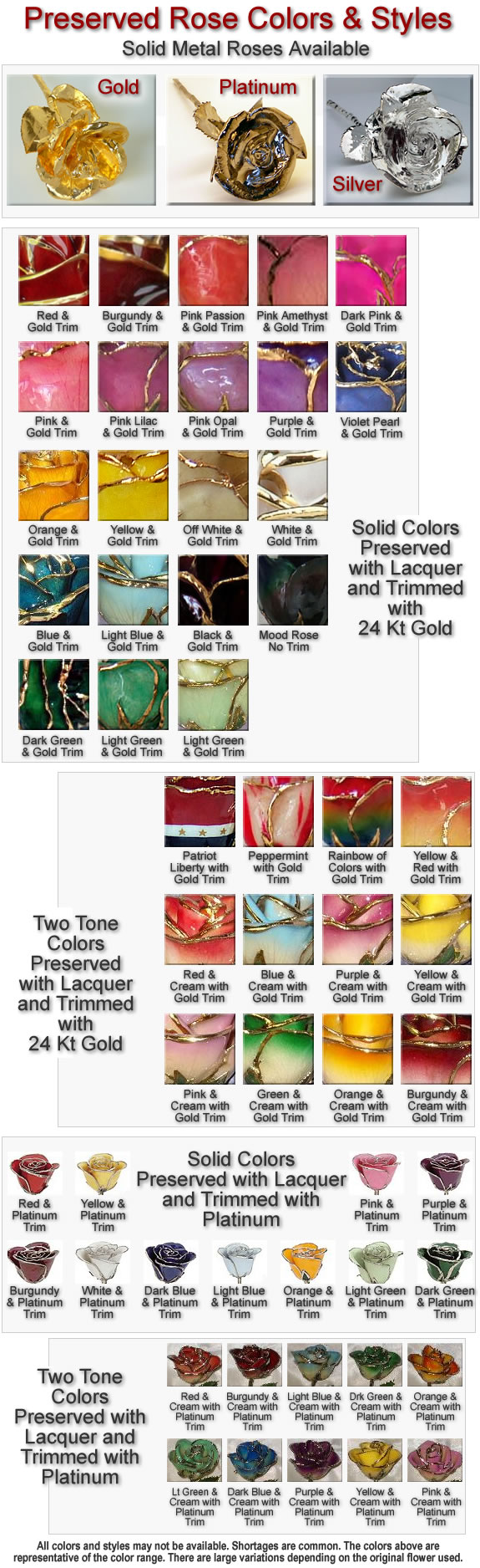 Meaning Each Color Roses Gold Roses In A Variety Of Metals And