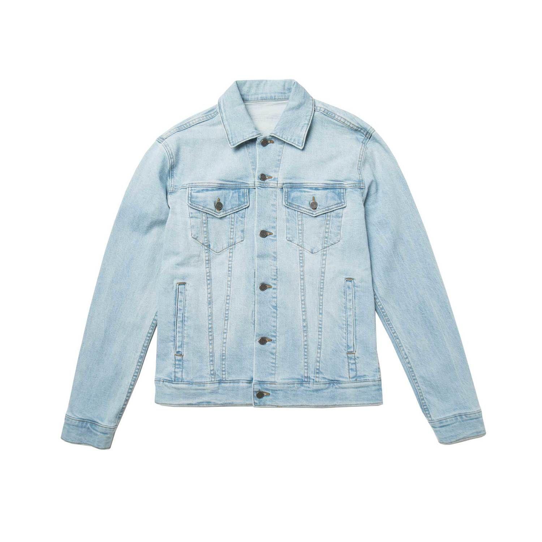 Mens Denim Jacket In Light Wash 10 Light Wash Denim Jacket Light Denim Jacket Mens Fashion Denim [ 1500 x 1500 Pixel ]