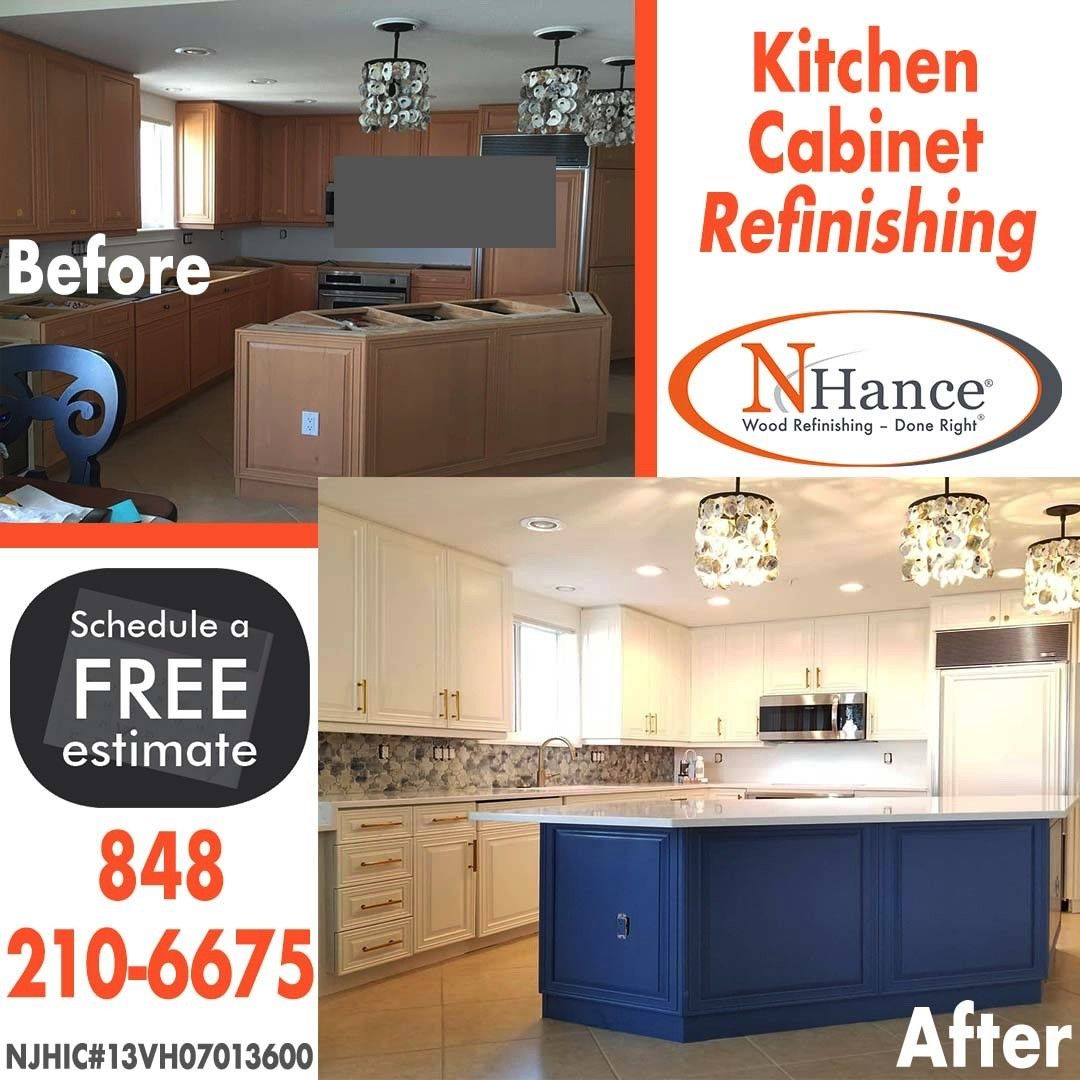 Don T Replace Or Reface Your Cabinets Refinish Them N Hance Uses Special Products Specifica Refinishing Cabinets Refinish Kitchen Cabinets Wood Refinishing