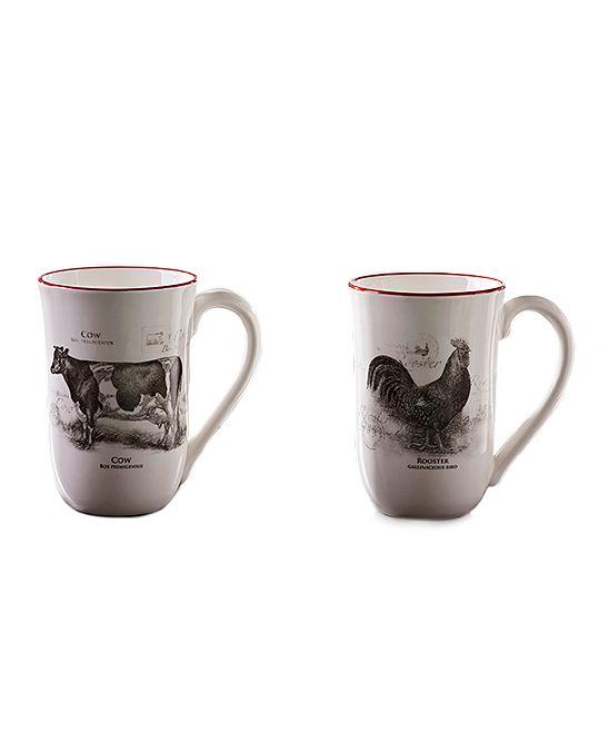 26ea41f01fb Ceramic Farm Animal Mug - Set of Two | Products