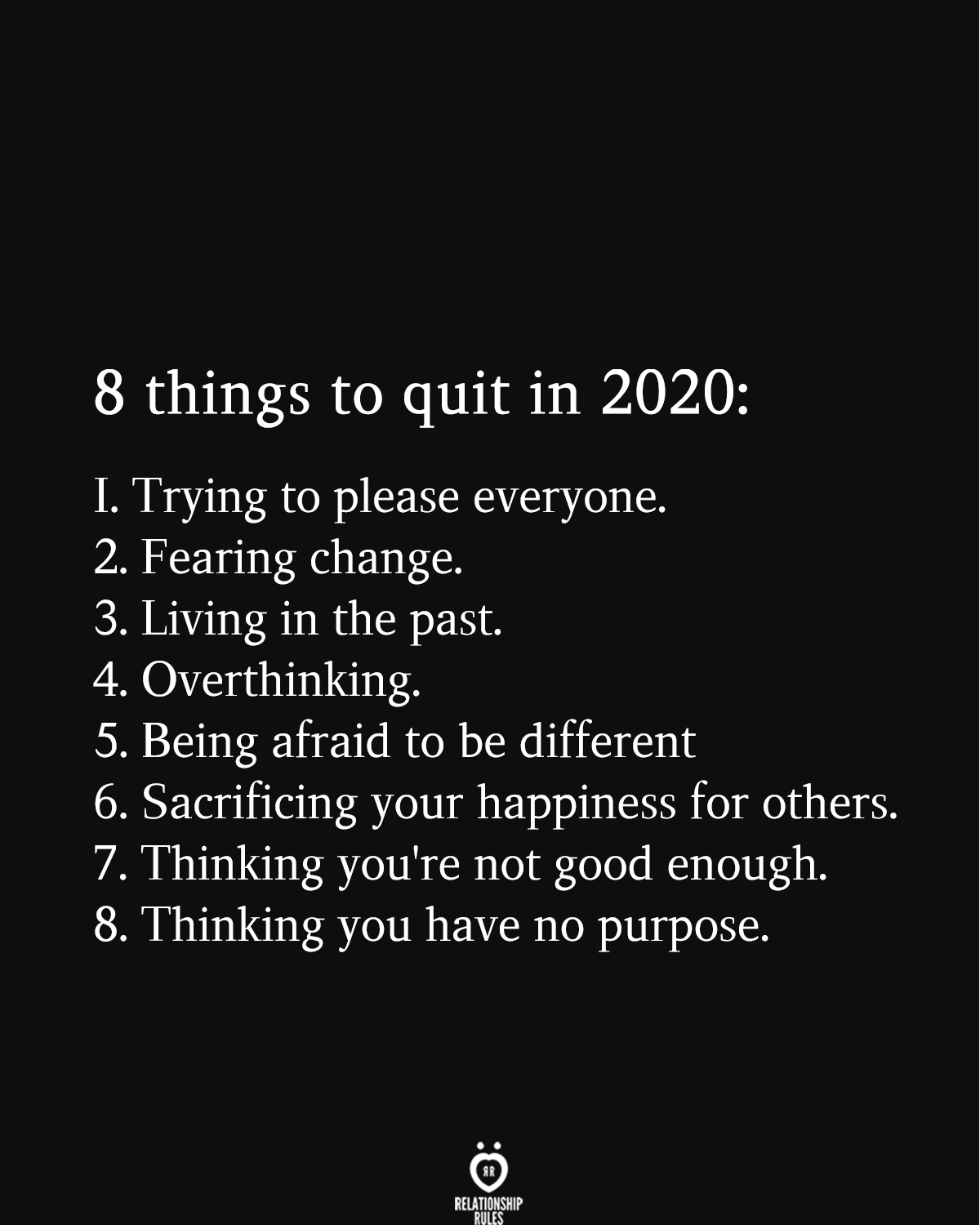 8 things to quit in 2020: