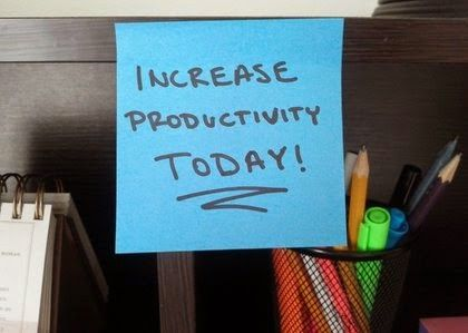 SUMBER INFORMASI DUNIA USAHA: Mau Jadi Pengusaha Produktif? Ini Caranya...  Produktifitas dalam usaha memang perlu. Namun bagaimana caranya agar Anda sebagai pelaku usaha bisa menjaga produktifitas diri Anda? Simak ulasannya berikut..