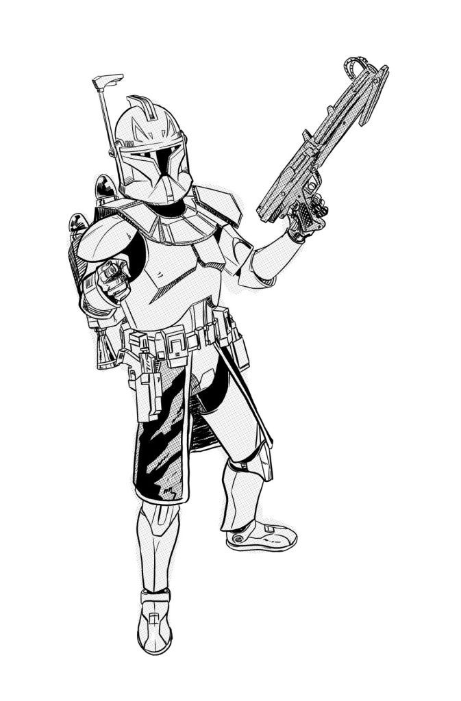 Star Wars Coloring Pages Captain