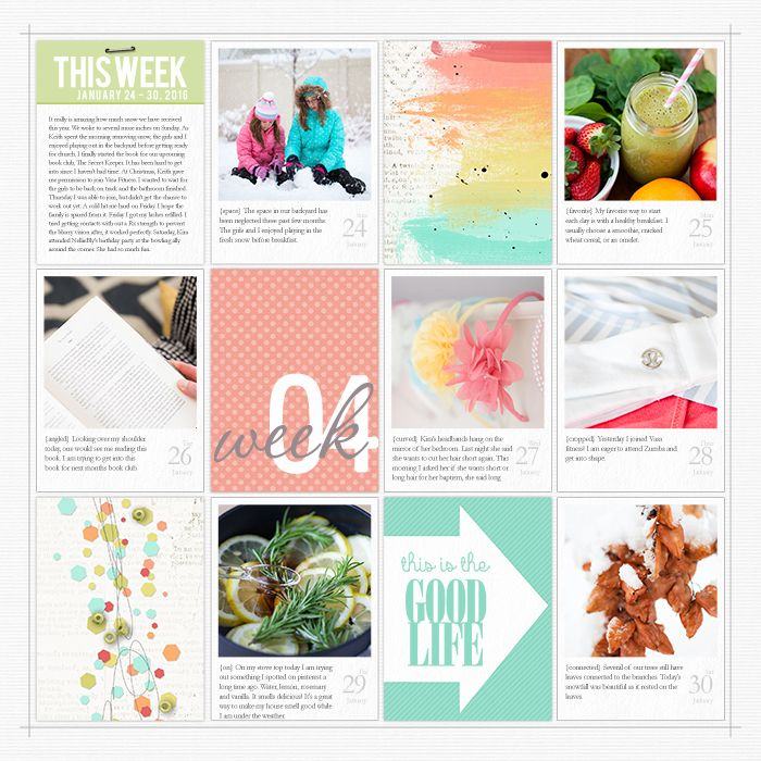 Project Life 2016: Week 4