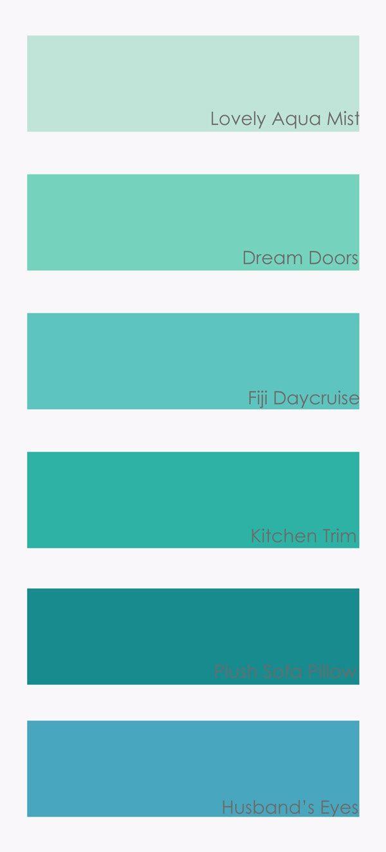 High Quality Colour Schemes Teal Paint, Turquoise Painting, Aqua Paint Colors, Aqua  Color Palette,