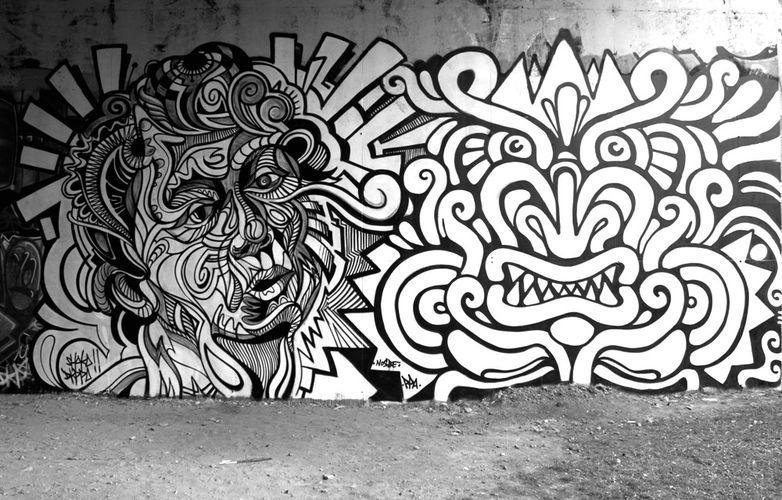 Big Walls, French Street Artist, Shaka
